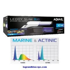 AQUAEL LEDDY SLIM DUO Marine et Actinic10 watts